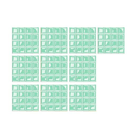 NRRN Pegatinas de azulejos, pegatinas de vidrio autoacristaladas 3D de azulejos de vidrio DIY pegatinas de pared de piso