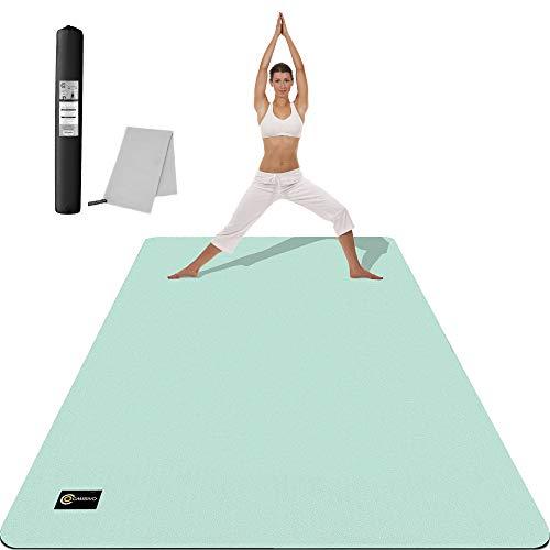 CAMBIVO Esterilla Yoga Extra Grande, Yoga Mat Antideslizante Colchoneta Fitness para Hombre y Mujer, Colchoneta Gimnasia para Ejercicio en Casa, Yoga, Pilates, Deporte (182 x 122 x 0,6 cm)