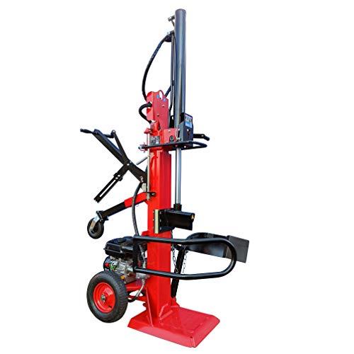CROSSFER Holzspalter LS22T-G10.0/22 Tonnen Spaltkraft / 110 cm Spaltlänge/Benzinmotor 10 PS 4 Takt OHV luftgekühlt / 2 Hand Bedienung/große Luftbereifung/hohe Spaltkraft