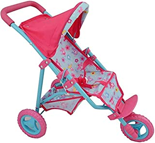 Dolls World 3 Wheel Jogger Stroller Accessories Toy