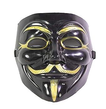 Imonic V for Vendetta Mask / Anonymous / Guy Fawkes Mask Black & Gold