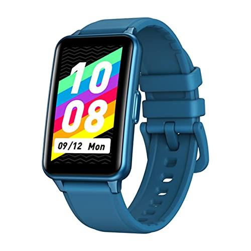 MeterBew1147 Reloj Inteligente 1.57LCD Cámara de Pantalla Grande Control de música Frecuencia cardíaca Monitoreo de presión Arterial Hombres Mujeres Smartwatch - Azul