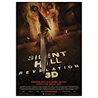 HZLYCH サイレントヒルクラシックホラー映画キャンバス絵画プリントウォールアートポスターヴィンテージポスターホームデコラティブ-50X70CMフレームなし