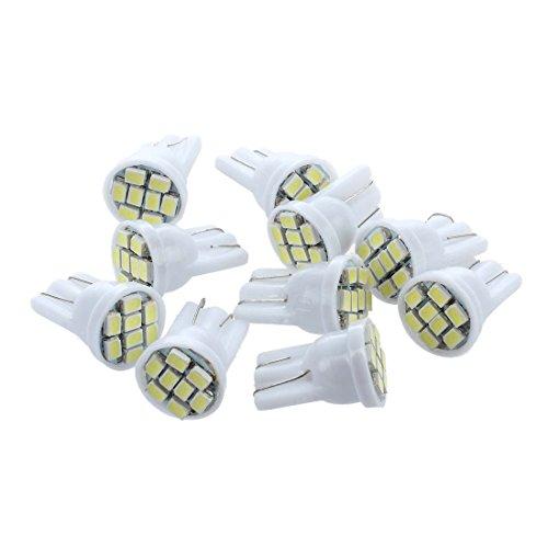 Kaxofang 10X Bombilla 8 LED T10 Coche Luz Lampara Lam Pa W5W 158 168 193 901