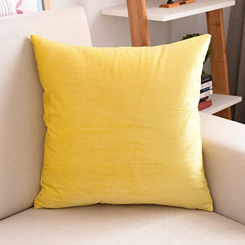 Almohada,Diseño ergonómico para un Mejor Soporte para Dormir en la Cabeza, el Cuello y los Hombros Almohada -Amarillo_60x60cm