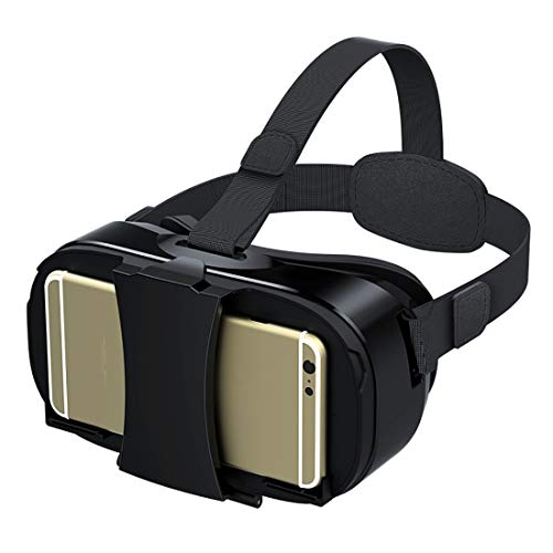 HYLMM 3D VR Virtual Reality Headset, VR-Brille für 360 Grad Immersive Videos/Filme/Spiele in 10,2-16,5 cm Samsung S6 Edge Note 5 LG G3 G4 Nexus 5 6P