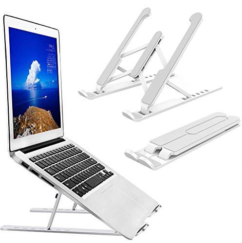 Laptop Stand,6 Angles Adjustable Aluminum Ergonomic Foldable Portable Desktop Holder,Compatible with MacBook Air Pro, Dell XPS, Lenovo More 10-15.6' Laptops & Tablet(White)