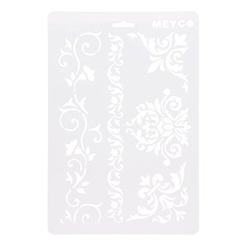 HuntGold ?A4 DIY Handwerk Ranke Blume Schichtung Schablonen Album Stempeln Vorlage Zeichenwerkzeug