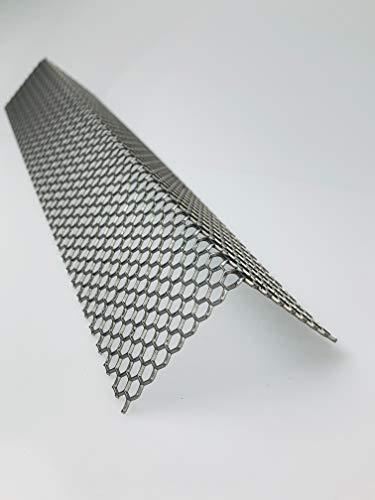 Lochblech Hexagonal Stahl Winkel HV 6-6,7 Winkelprofil 1,5mm Länge 1000mm, Individuell nach Maß (Schenkel: 40mm x 40mm)