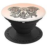 Schöner Elefant Mandala Tattoo Kunst Blumenmuster - PopSockets Ausziehbarer Sockel und Griff für Smartphones und Tablets