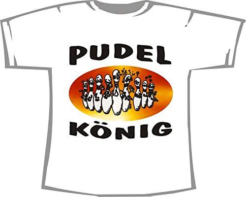 Pudel König; Kegeln T-Shirt weiß, 36/38; Gr. S; Damen