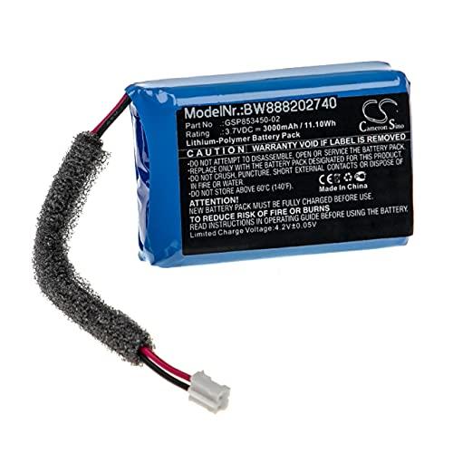 vhbw Batería Recargable reemplaza JBL GSP853450-02 para Altavoces, Cajas acústicas, bafles (3000...