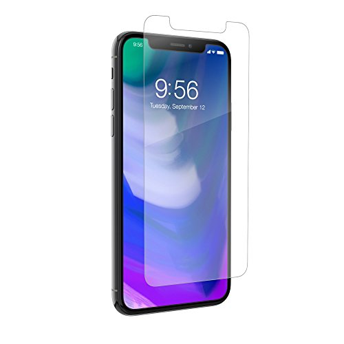 ZAGG – InvisibleShield HD Dry Film Screen Protector – Apple iPhone X Screen Protector – Advanced Clarity – Engineered to Protect – Self-Healing Scratch Protection