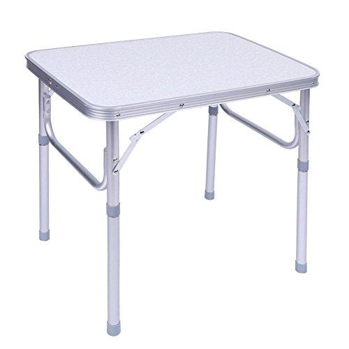 Estink Aluminium Campingtisch, Outdoor Klapptisch Picknicktisch Gartentisch, mit Tragegriff, höhenverstellbar, Multifunktionstisch, Tragfähigkeit 40kg