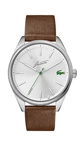 Lacoste Herren Analog Quarz Uhr mit Leder Armband 2011052