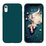 YINLAI iPhone XR Hülle iPhone 10 XR Silikon Handyhülle iPhone XR Schutzhülle Slim Hülle Cover Liquid Silikon Gel Matte Kratzfest Hülle für Apple iPhone XR 6,1 Zoll,Dunkelgrün