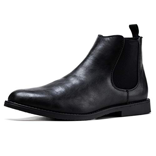 Jivana Men's Ankle Boots Oxford (8, BLack-23)