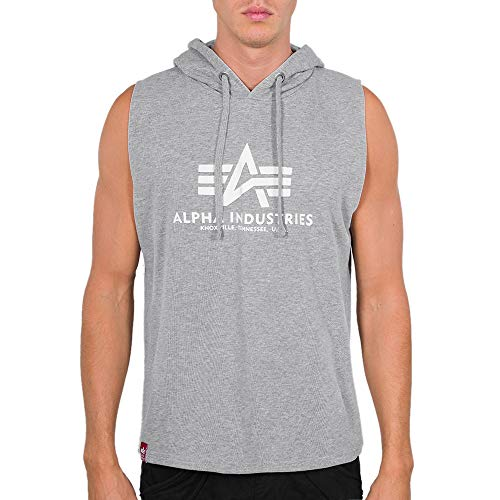 ALPHA INDUSTRIES Basic Hooded Tank T-Shirt/Unisex Grey-L