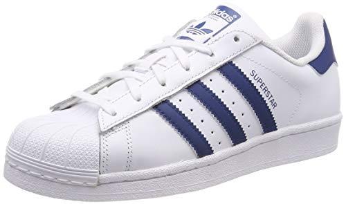 adidas Superstar J Scarpe da ginnastica Unisex bambini, Bianco (Ftwr White/Ftwr White/Legend Marine), 36 2/3 EU (4 UK)