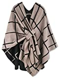 Moss Rose Women's Shawl Wrap Poncho Ruana Cape Open Front Cardigan for Fall Winter