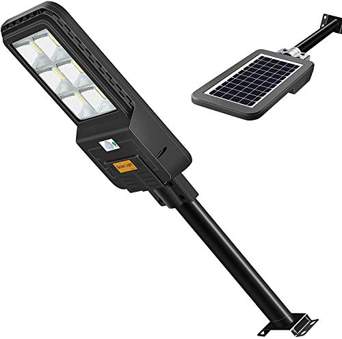 Farola LED 300W Solar Exterior IP65 con Panel Solar,Farola solar LED para exteriores de 300W con sensor de radar Farolas 396LEDs, 6500k, Control remoto