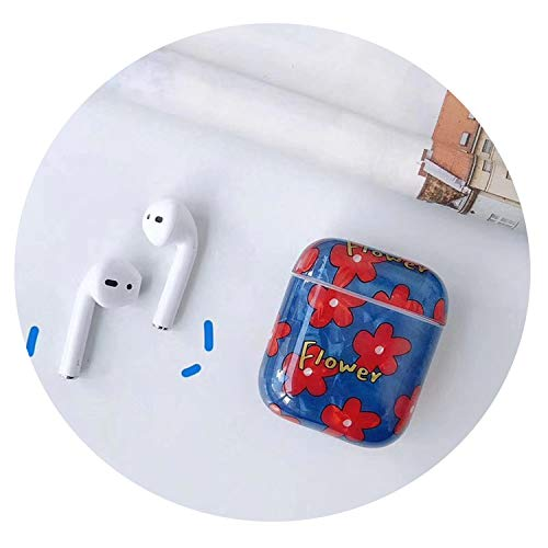 Wireless Headphone Case for Airpods 2 Case Luxury Hard Flower Cover for Air Pods Protective Charging Cases for Apple Airpod 2,359F