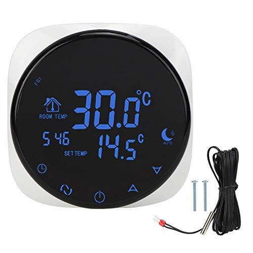 Shipenophy Regulador de Temperatura del termostato eléctrico de Alta presión de los Suministros domésticos con WiFi para calefacción eléctrica del Suelo