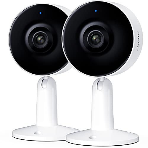 Arenti Überwachungskamera Innen WLAN Kamera, 1080P FHD Sicherheitskamera Nachtsicht Onvif IP Kamera, IN1 2-Wege-Audio Bewegungserkennung Home Security Camera, 2PC