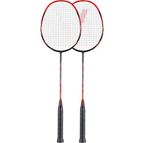 DXIUMZHP Raquetas Raquetas De Bádminton De Fibra De Carbono, 2 Piezas, Juguetes De Jardín para Adultos, Unisex, con Mochila (Color : Black+Red, Size : 67.5cm)