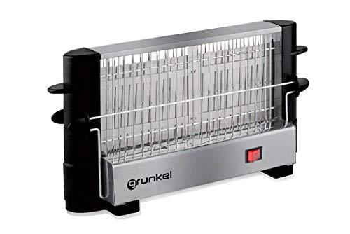 Grunkel - TSV-F2 - Tostador vertical con capacidad para 4 tostadas. Apto para cualquier pan y bollería - 750W - Acero inoxidable