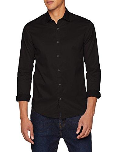 ONLY & SONS Herren onsALVES LS 2-PLY Easy Iron Shirt NOOS Businesshemd, Schwarz (Black Black), X-Large