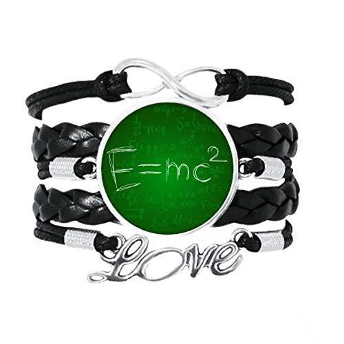 DIYthinker Armband für Relativität, Physikalische Wissenschaft, Taschenrechner, Liebes-Accessoire, gedrehtes Leder, Strickseil, Geschenk