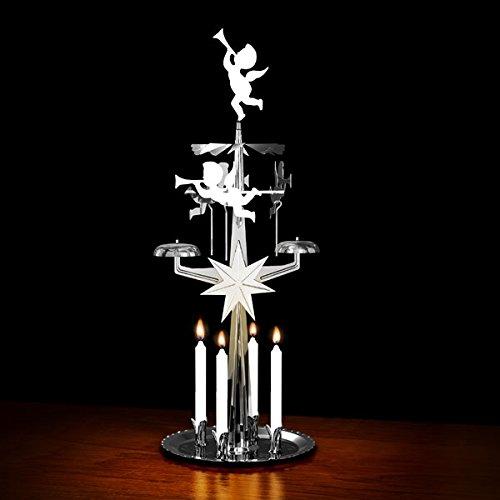 Angel Chimes: inkl. Kerzen: schwedisches Design, silber, Angel Chimes