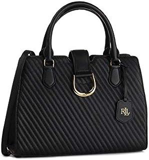 LAUREN Ralph Lauren City Quilted Satchel Bag, Black