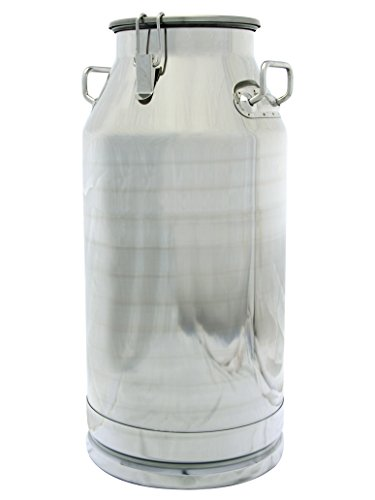Stainless Steel Milk Transport Cans with Strong, Sealed Lid and Optional Spigot (13 Gallon)