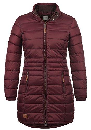 Blend SHE Carlotta Damen Steppmantel Übergangsmantel Lange Jacke gefüttert mit Stehkragen, Größe:S, Farbe:Zinfandel (73006)
