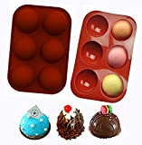 HIOVIOSS Chocolate Cake Pop Mold Silicone Making Hot Cocoa Bombs to Drink Sphere Ice Cube Small...