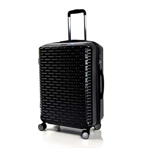 SIGN Hard Shell Travel Suitcase TSA Security Combination Lock with 4 Double Wheels ABS Polycarbonate