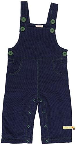 loud + proud Unisex Baby Cord Latzhose, Blau (Midnight Mi), 68 (Herstellergröße: 62/68)
