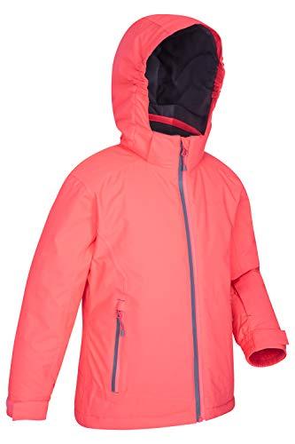 Mountain Warehouse Slope Style Kids Waterproof Ski Jacket - Taped Seams, Breathable Winter Coat Pink 9-10 Years