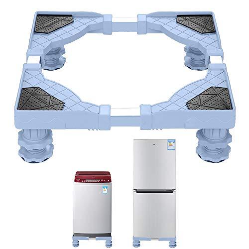 La base de la lavadora se puede elevar. La base de la lavadora es de 45 a 58 cm de ancho y de 50 a 60 cm de alto para evitar ruidos y el efecto de amortiguación es de 300 kg.