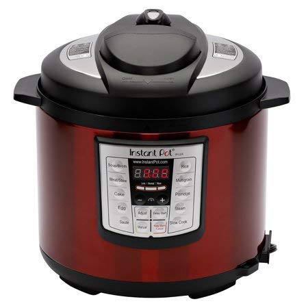 Instant Pot LUX60 Red Stainless Steel 6 Qt 6-in-1 Multi-Use Programmable Pressure Cooker, Slow Cooker, Rice Cooker, Saute, Steamer, and Warmer