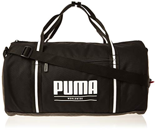 PUMA WMN Core Base Barrel Bag Bolsa Deporte, Mujeres, Black, OSFA