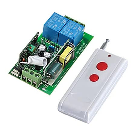 AC 220 V 2 channel Wireless Remote Control Switch 1 Receiver 2 transmitter