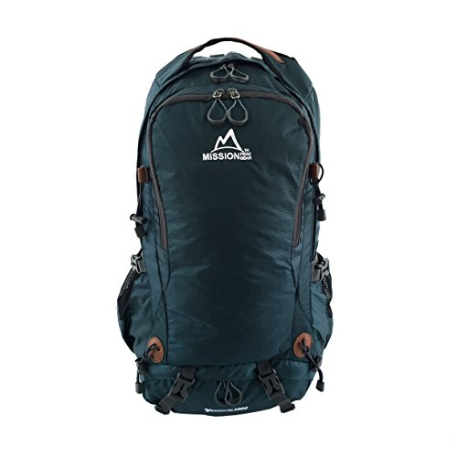 Mission Peak Gear Yosemite 3000 50L Internal Frame Hiking Daypack Backpack Outdoor Sport Water Resistant Backpack Laptop Bag, Ripstop Nylon, Waterproof Rain Cover, Backpacking, Camping, Travel