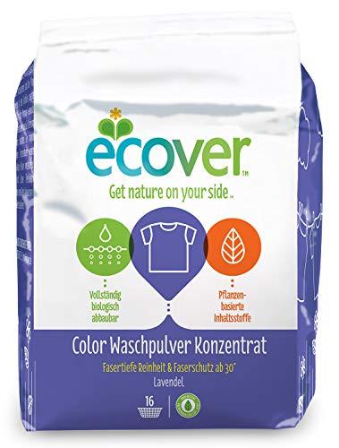 Ecover Color Waschpulver Konzentrat Lavendel (4 x 1,2 kg / 64 Waschladungen), Colorwaschmittel mit pflanzenbasierten Inhaltsstoffen, Waschmittel Pulver für reine Buntwäsche