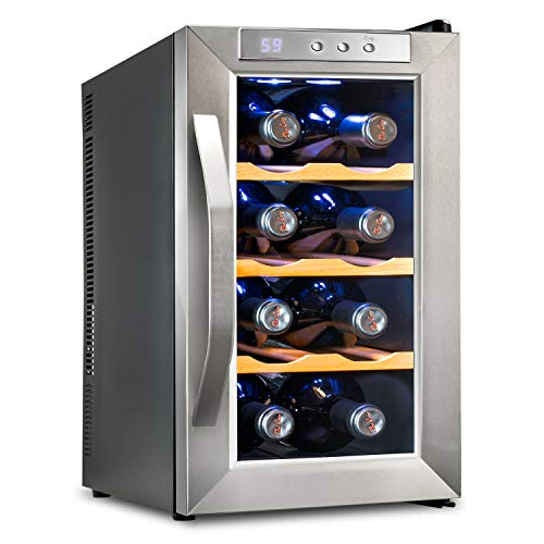 Ivation Premium Stainless Steel 8 Bottle Thermoelectric Wine Cooler/Chiller...