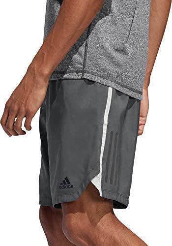 adidas Axis - Pantalones Cortos para Hombre (3 Rayas, Talla S), Color Blanco y Negro, Medium, Legend Ivy/Raw White