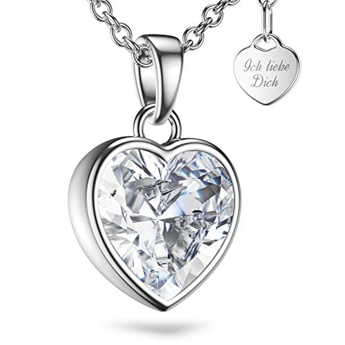 Amoonìc -  Herzkette Silber 925