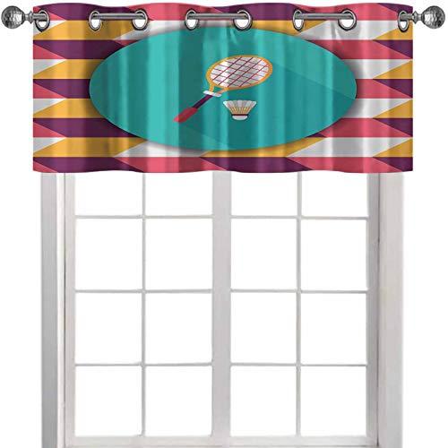 YUAZHOQI - Raqueta de bádminton y bola de icono plano con sombreado largo eps de 52 pulgadas de ancho x 45 cm de largo.